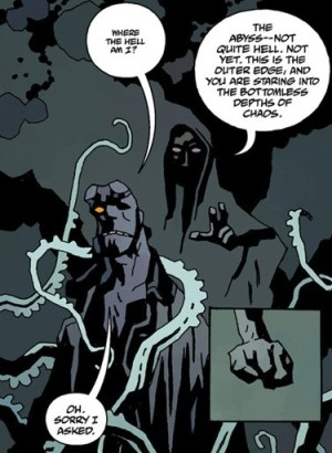 Hellboy in the Abyss