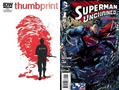 Thumbprint #1 and Superman Unchained #1