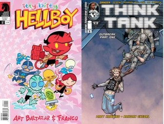 Itty Bitty Hellboy #1 and Think Tank #9